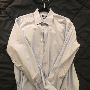 Hugo Boss Men's Blue Dress Shirt (34, 16.5)